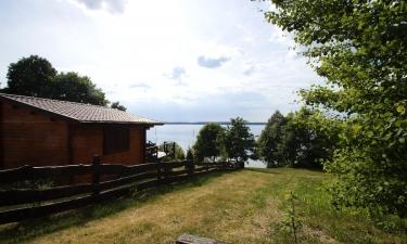 Domki nad jeziorem, Mazury, Gołdopiwo